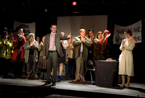 Students performing Threepenny Opera