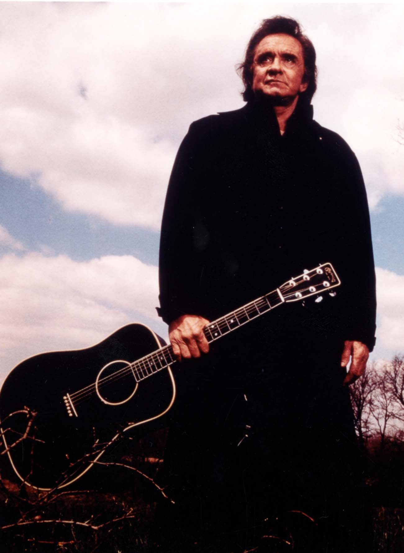 Johnny Cash with guitar