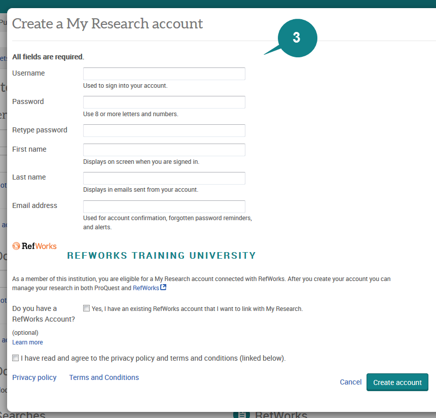 Create a My Research Account