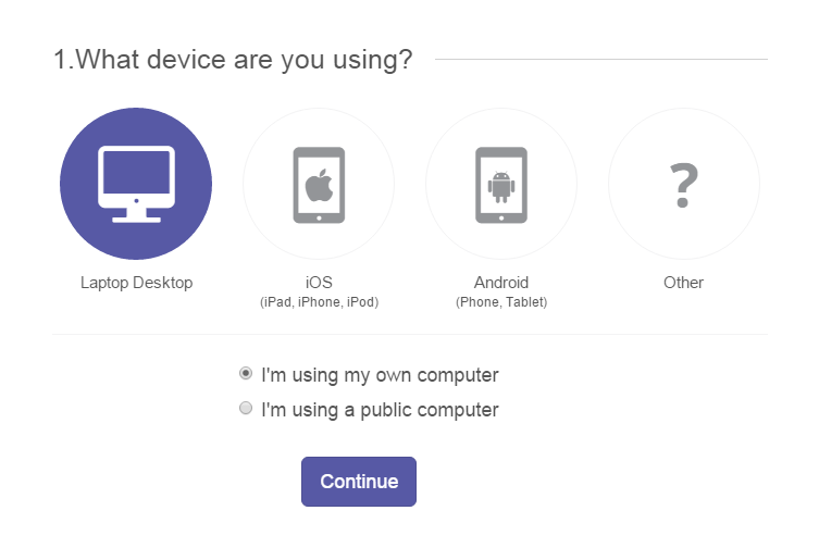 Download Device Selections