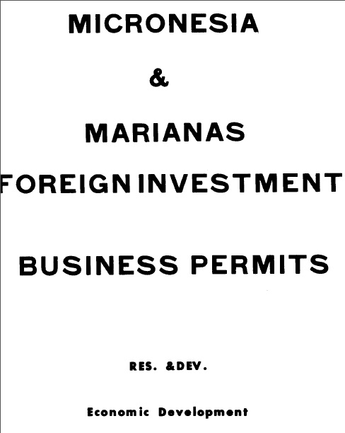 Cover of 'Business Permits by Pacific Islands (Trust Territory). Foreign Investment Branch'