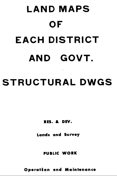Cover of 'Land maps of Trust Territory districts and government structural drawings'