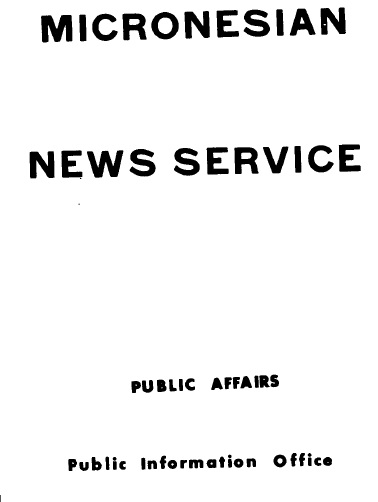 Cover of 'Micronesian news service'