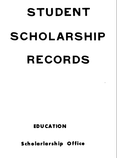 Scan of 'Student scholarship records'