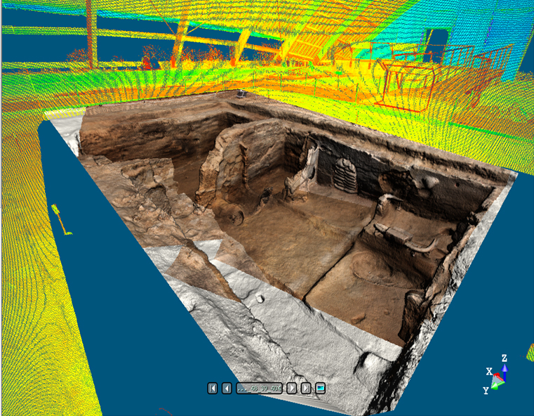 Digital visualization of an archaeological site 3D-[D]igging