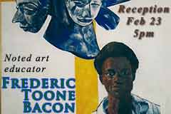 Detail of FT Bacon painting showing a young African man