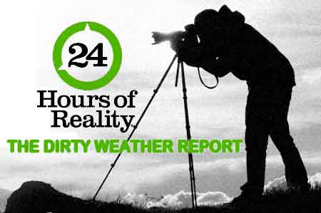 Logo for The Climate Reality Project's 24 Hours of Reality: The Dirty Weather Report