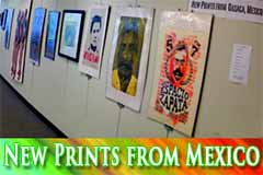 Prints by members of the Asamblea de Artistas Revolucionarios Oaxaca (ASARO)