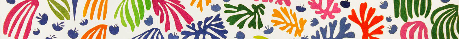 Section of Henri Matisse's The Parakeet and the Mermaid