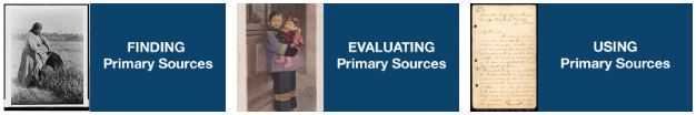 Image of finding, evaluating, and using primary sources