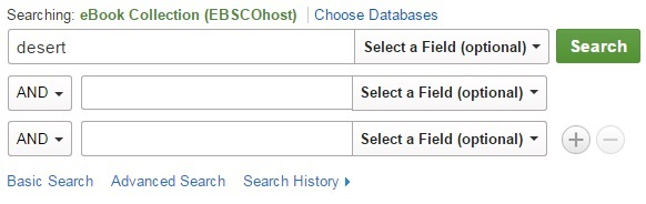 Image of a search in eBook Collection