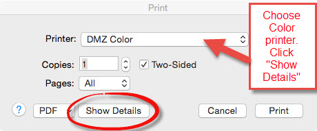 Microsoft Print Menu On A Mac Show Details Option Highlighted