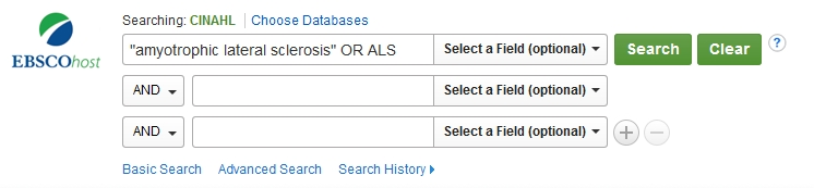 CINAHL Basis search