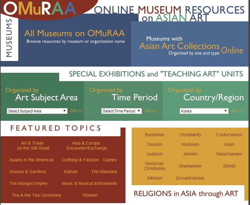 Online Museum Resources on Asian Art (Columbia University)