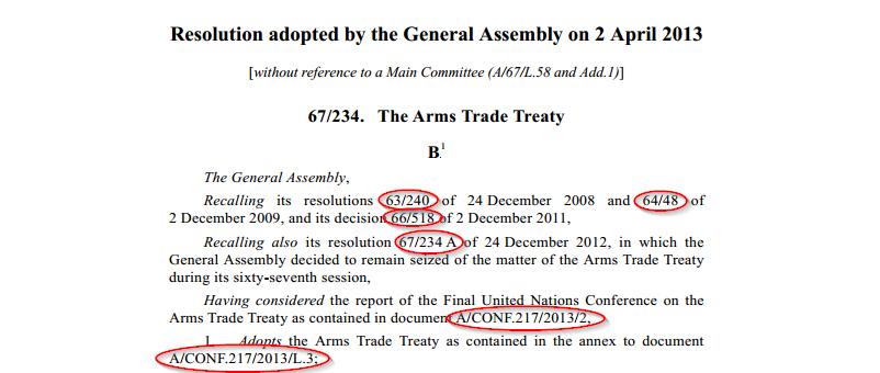 arms trade treaty text