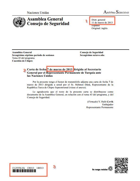 documento de la asamblea general que muestra el encabezado