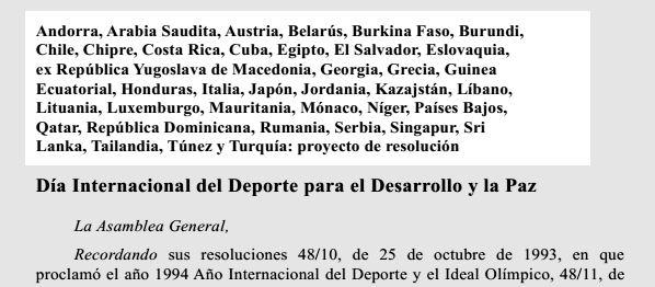 Proyecto de resolucion presentado al Plenario