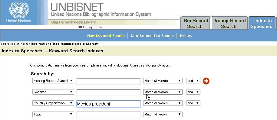 Presidente de México en el campo país/organización