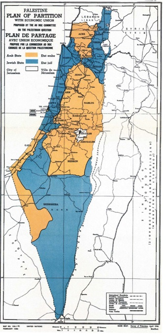 Palestine - Plan of partition with Economic Union