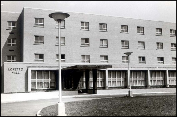 Loretto Hall shortly after opening in 1965