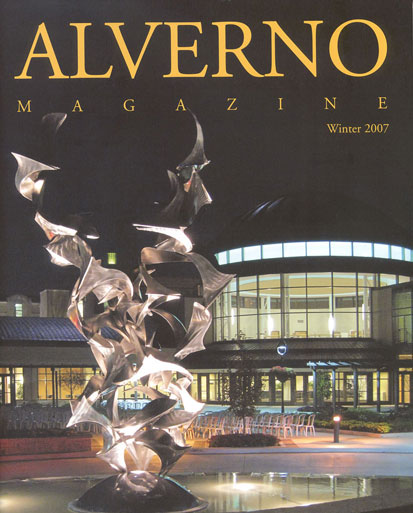 "Winter 2007 Alverno Magazine Cover - Photo of ""Soaring"""