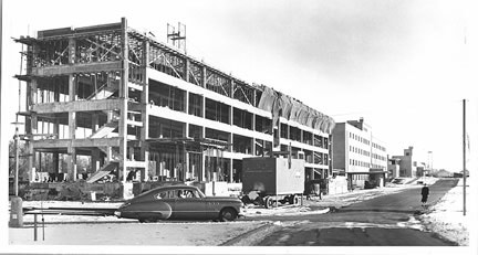 Clare Hall under construction, ca. 1956