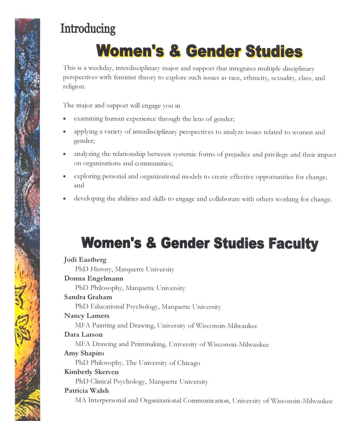 Women's and Gender Studies Flyer, p.2