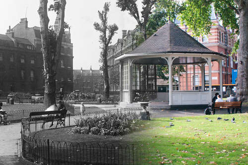 Northampton Square Bandstand, then and now