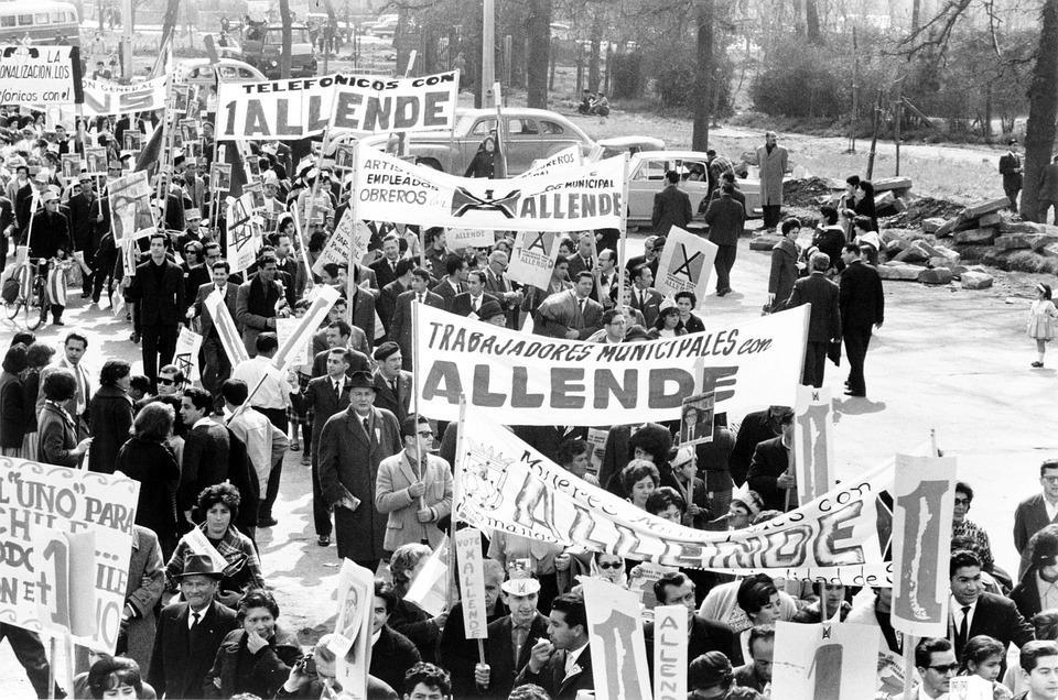 1964 protest for Salvador Allende