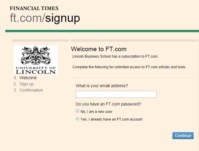 Screenshot from FT.com