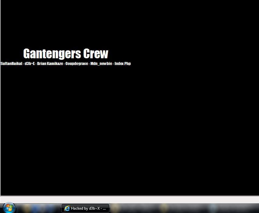 Screenshot of d3b~X Gantengers Crew message