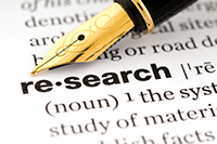 picture of a pen with the word research