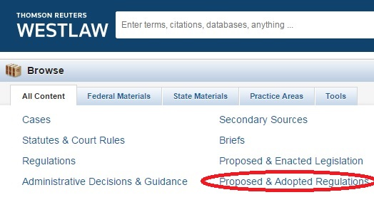 Westlaw Search screen