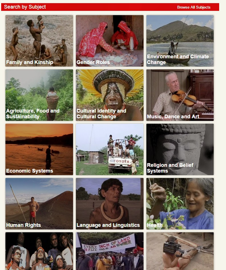 Screenshot of Ethnographic Video Online