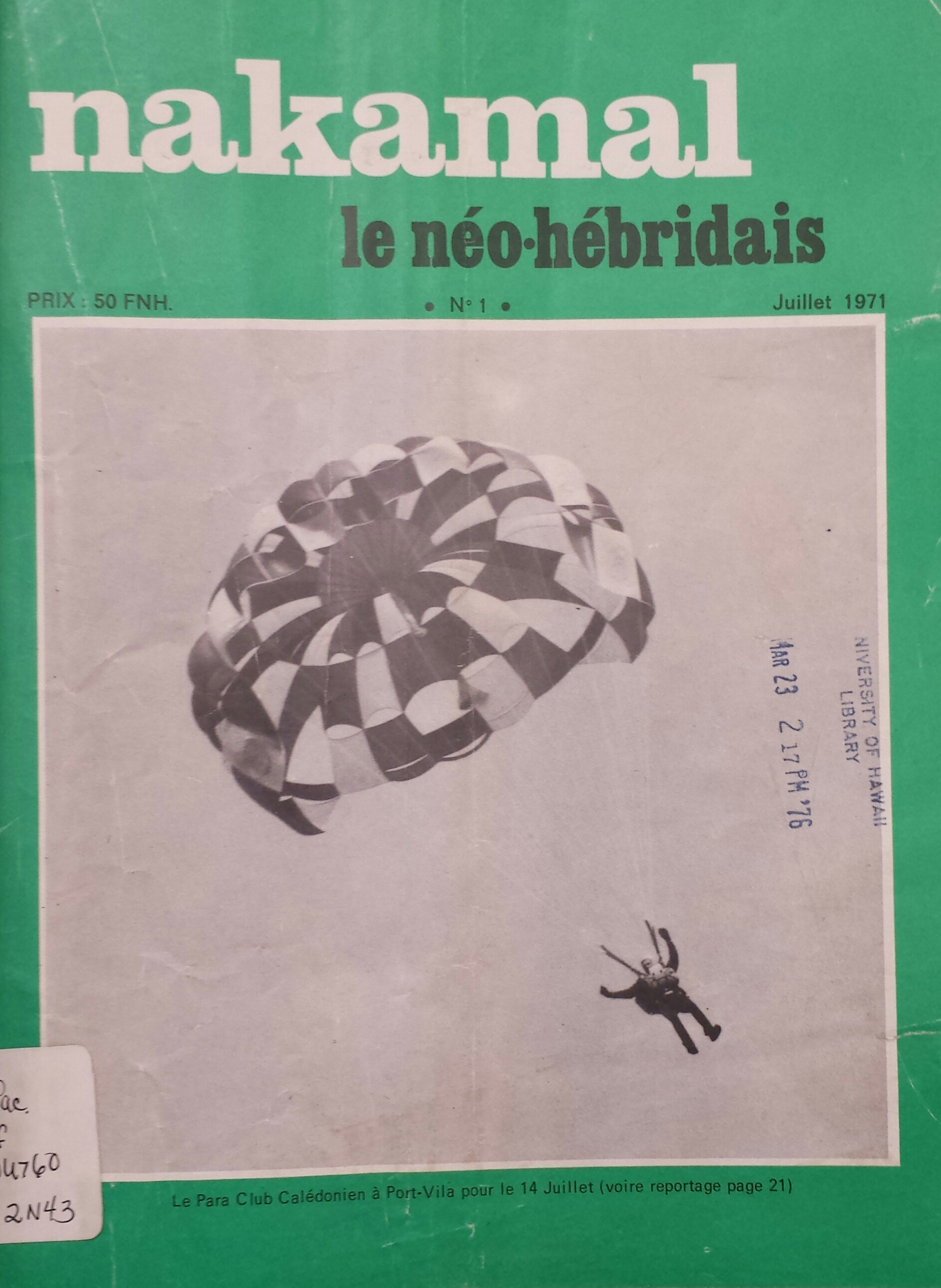 Cover of the 'New Hebrides' Nakamal'