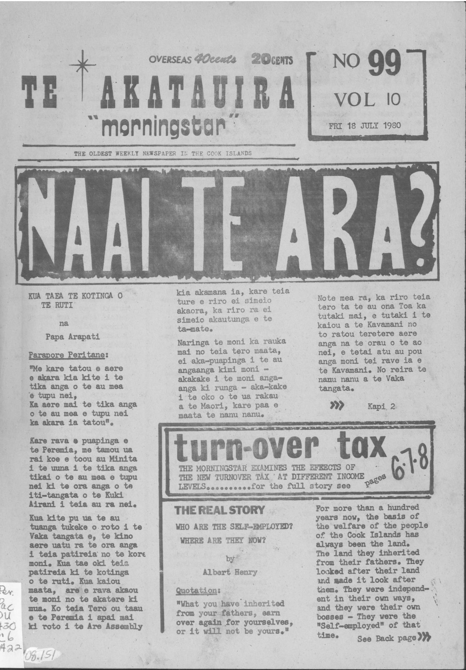 Cover of 'Te Akatauira – The Morning Star'