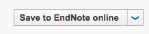 Image of 'Save to EndNote online' button from Web of Science databases