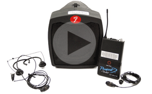 Fender Portable PA with Wireless Lapel Mic Video