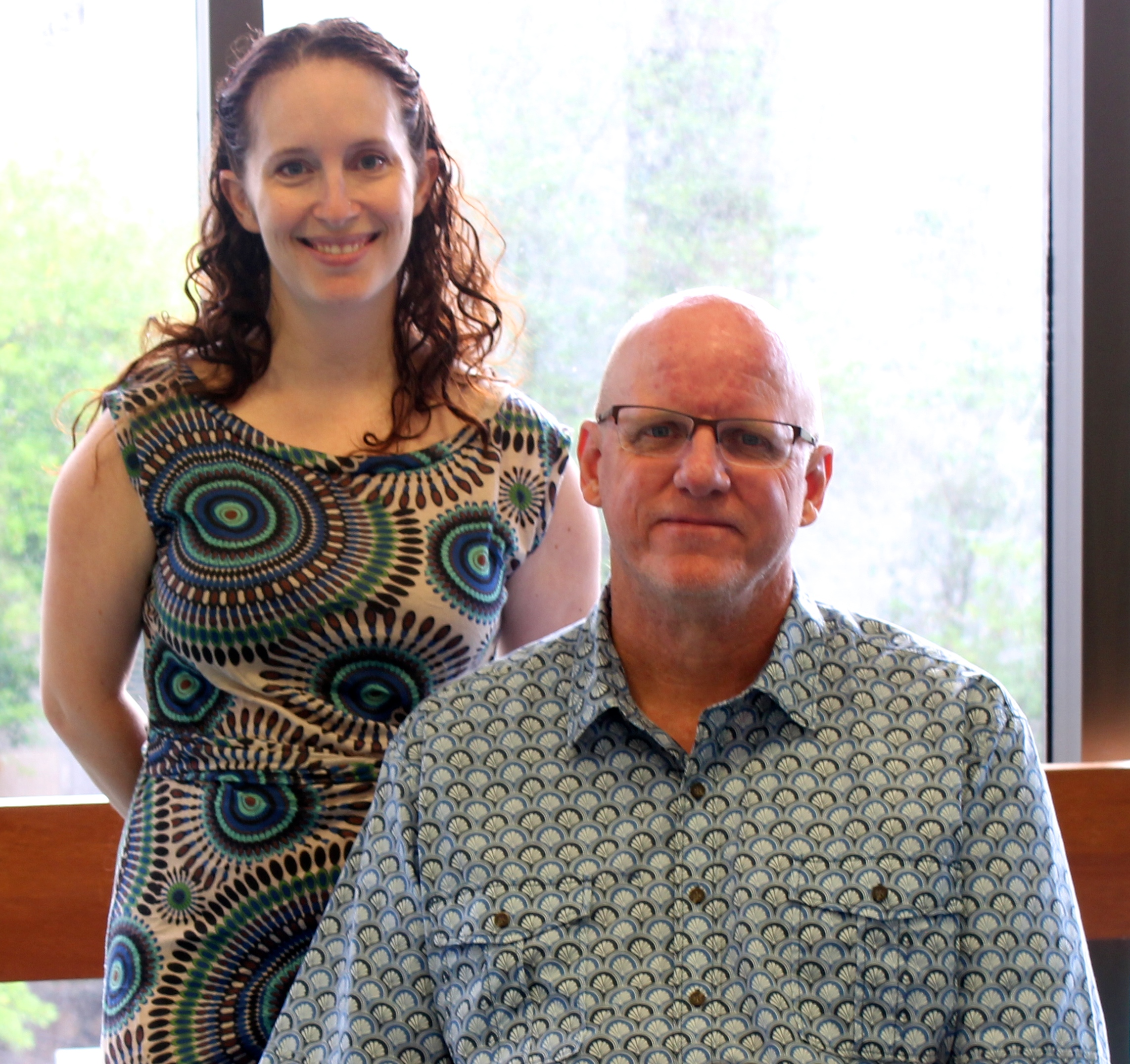 Image of Pacific Collection Librarians from left to right: Eleanor Kleiber and Stu Dawrs