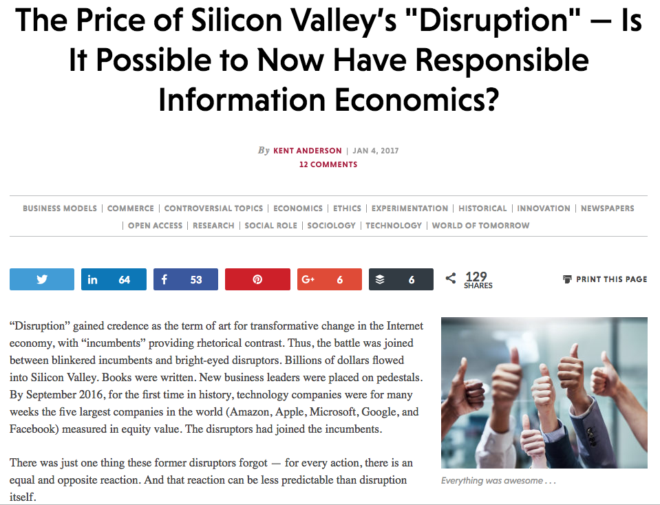 The Price of Silicon Valley's