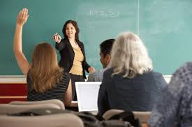 female professor teaching class