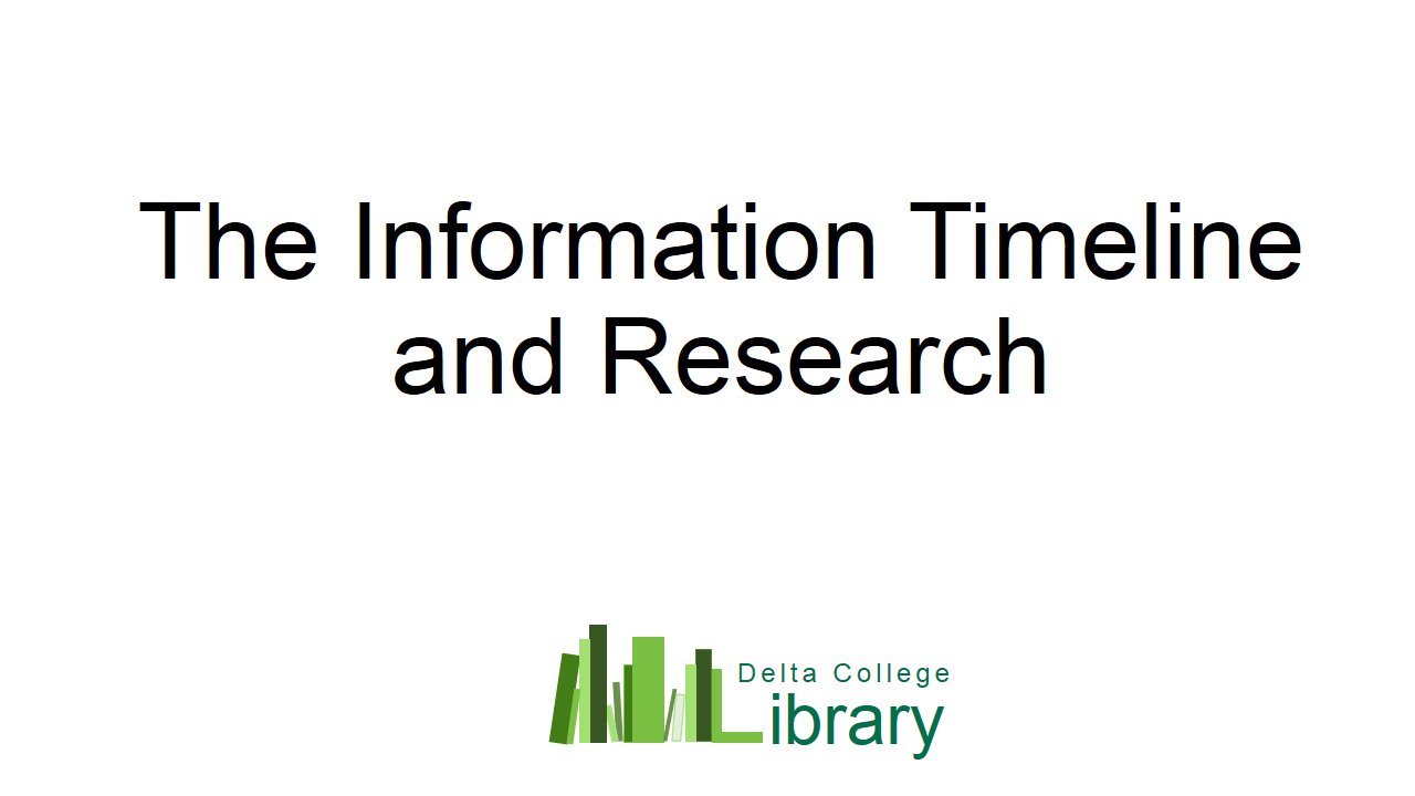 Information Timeline and Research
