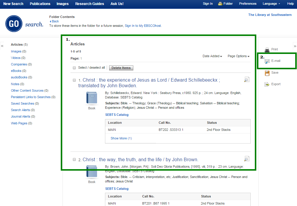 Items By Mail/Email - Distance Students - ResearchGuides at