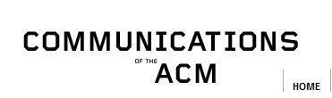 Logo for Communications of the ACM