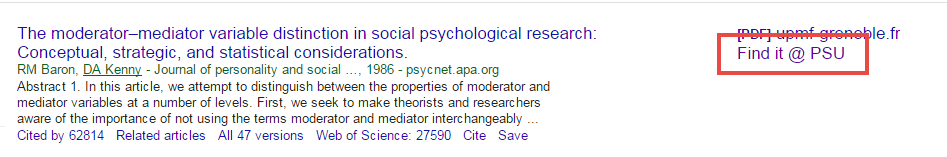 Google Scholar article search
