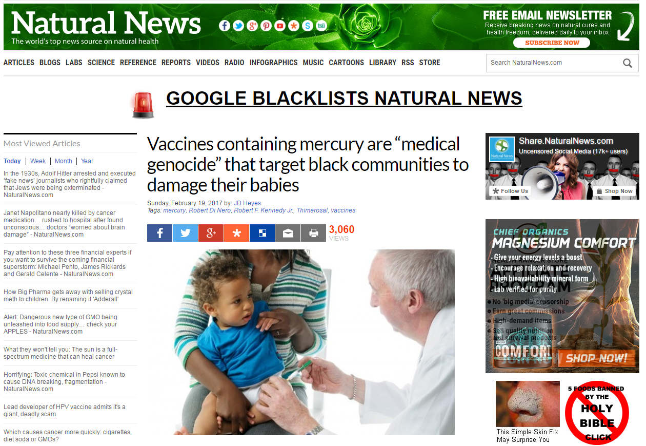 Article from Natural News