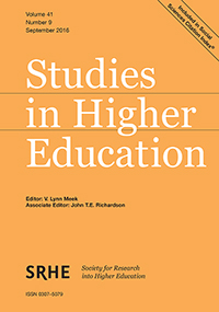 image of studies in higher education