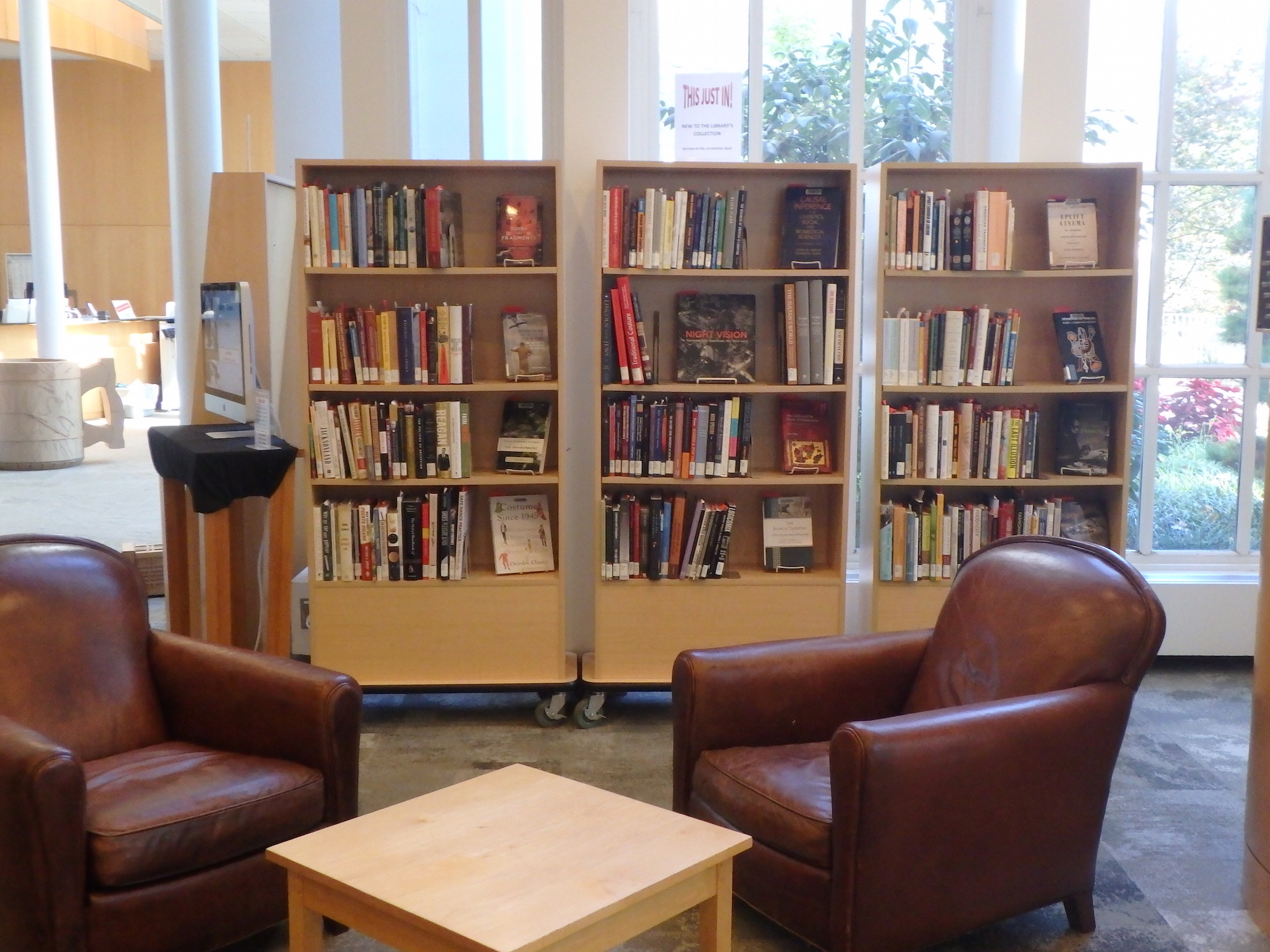 Just in! reading area