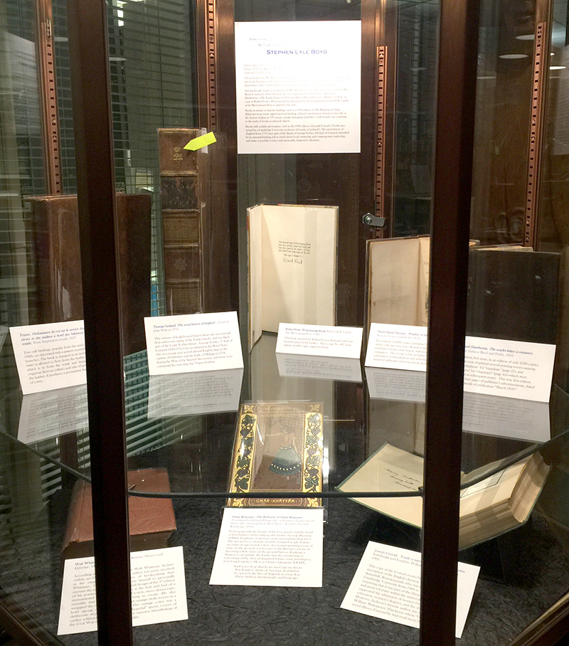Image of flash exhibit of Stephen Lyle Boyd first editions