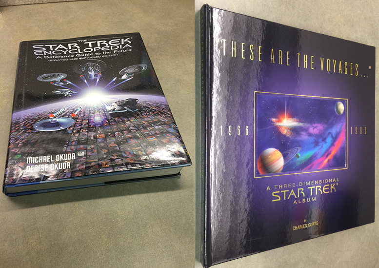 Image of two Star Trek books